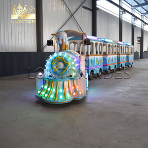 Cream Trackless Train